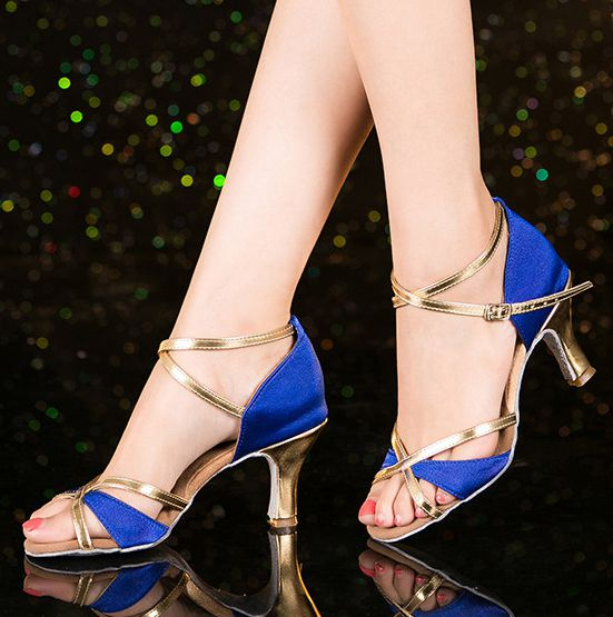 Satin Pu patchwork sandals shoes women red black blue brown sexy summer dancing sandals lady female party sandals TG1408 newest<br>