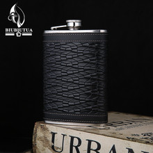 BIUBIUTUA New 9 Style 9oz Alcohol Flask Stainless Steel Mini Flasks Outdoor Portable Mini Hip Flask(China)