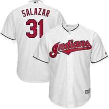 MLB Men's Cleveland Indians Danny Salazar Baseball White Home Cool Base Jersey(China)