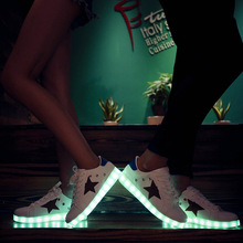 Size 35-44 USB Charging Children Shoes Luminous Sneakers for Girls Boys Led Shoes Glowing Sneakers Kids Footwear Lighting(China)