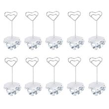 10pcs Place Card Holder Heart Shape Wedding Party Favor Table Number Table Number for Wedding Event Party Valentine Day(China)