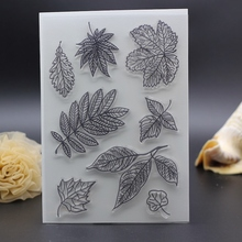 Clear stamps for Scrapbooking Card album Decoration house decorative maple leaf  Transparent Stamps silicon roller stamp