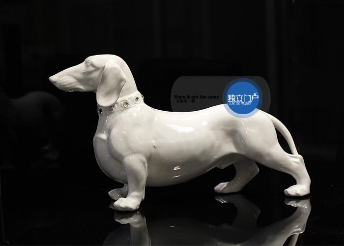 Dachshund Porcelain Figurine Christmas Ornament