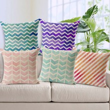 SewCrane Abstract Wave Pattern Geometric Printed Cotton Linen Decorative Pillow Cushion Cover 17.7 x 17.7 & Popular Sewing Pattern Car Seat Cover-Buy Cheap Sewing Pattern Car ... pillowsntoast.com