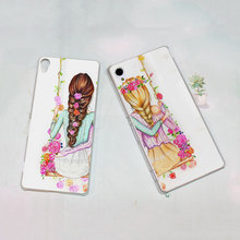 best friends forever style transparent Thin phone Case for Sony Xperia XA M4 M5 z3 z4 z5 C4 C5 C6 e4 e5(China)