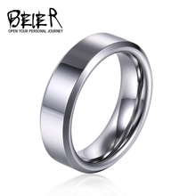 Beier 100% Real Tungsten  width 4/8mm Man's  women's wedding Engagement ring high polished top quality jewelry  W056