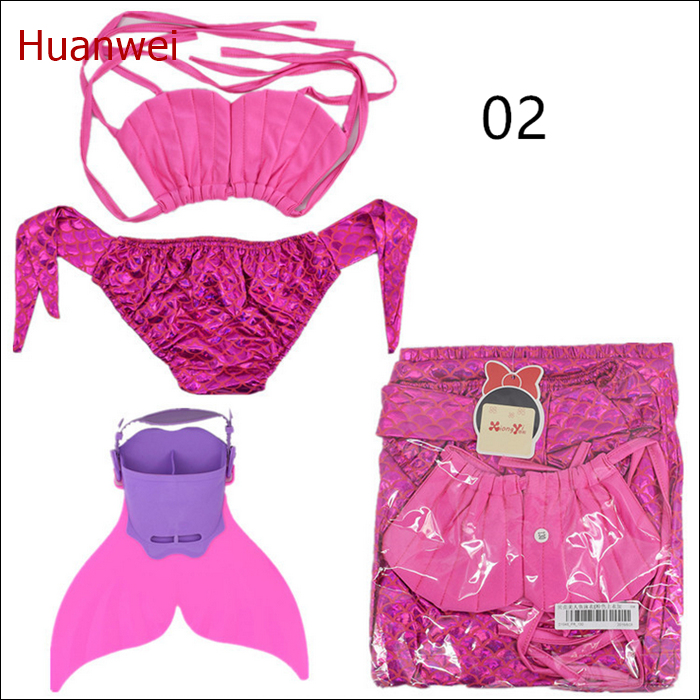 Includes Monofin Pink shell tops bikini swimwear kids swim beachwear mermaid tail for swimming<br><br>Aliexpress