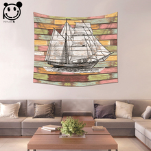 PEIYUAN Color Sea Boat Anchor Life Buoy Tapestry Factory Wholesale Custom Wall Hanging Table Cloth Tapestry Home Decorative(China)