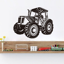 DCTOP Tractor Wall Stickers For Kids Room Bedroom Living Room Removable Vinyl Waterproof Wall Art Decals Home Decor Accessories