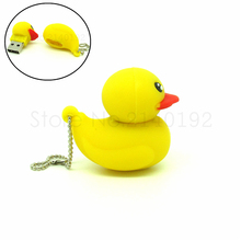 Hot Sale cute Small yellow duck USB Flash Drive Good gift Pen Drive Flash Card 4gb 8gb 16gb 32gb  PenDrive childhood dream
