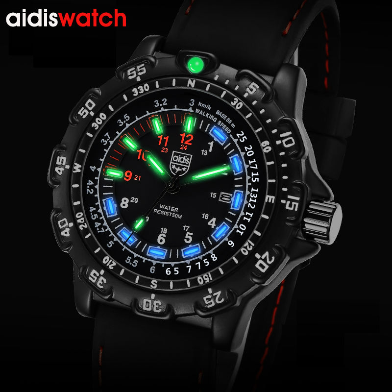 TOP Luxury Watches  Fashion Casual Mens Noctilucent Quartz Wristwatch Waterproof Outdoor Sports Military Form Watches<br>