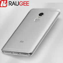 "RAUGEE for 5.5"" Xiaomi Redmi Note 4X Case Clear Silicone Protective Back Cover TPU Case for Global Version Xiaomi Redmi Note 4(China)"