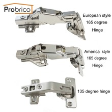Probrico 135/165 Degree Combination Cabinet Hinge Furniture Full Overlay Concealed Cupboard Door Hinge