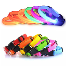 Nylon Dog Collar Night Safety LED Glow Dog Harness Pet Supplies Cat Collars Creative Design Christmas Accessories