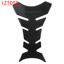 IZTOSSNew High Quality Hottest 1pcs Free Shipping Carbon Fiber Tank Pad Tankpad Protector Sticker For Motorcycle Universal Black