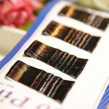 1 set NERO invisibile Clip di Capelli Flat Top Bobby Pins Grips Salon Barrette # EC006(China)
