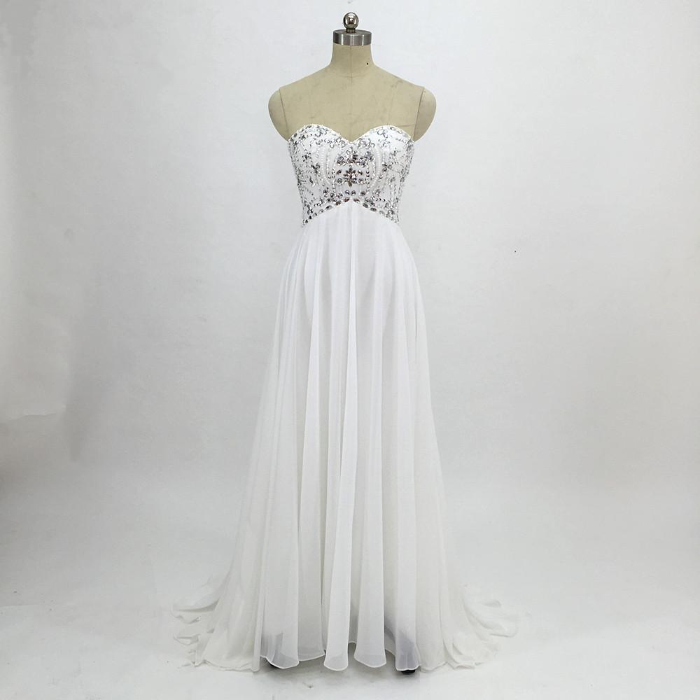 Sexy Chiffon A Line Beach Wedding Dresses Vintage Boho Cheap Bridal Gowns Vestidos De Novia Robe De Mariage Bridal Gown in stock 11
