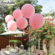 5PC 36 inch Birthday Balloons Wedding Party Celebration Decor Ballon Giant Matte Latex Balloons Helium happy birthday Balloon(China)