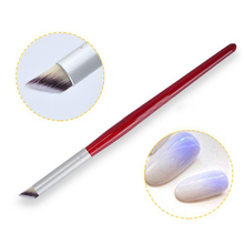 1Pc Nail Art Gradient Dizzy Dye Brush Wood Handle Angled Nail Brush Tool Professional Gel Acrylic Nail Art Brush