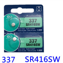 2Pcs/Lot New LONG LASTING 337 SR416SW 623 D337 V337 SP337 Watch Battery Button Coin Cell MADE IN JAPAN 100% Original Brand