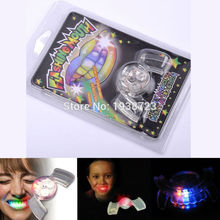5 pcs Halloween Toy Flashing Teeth Glow Tooth Light Up Mouthpiece Braces LED Mouth Guard  Mouth Party Favors