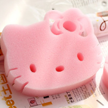 5pcs/lot Hello kitty Cleaning Sponge Magic Eraser Pink Cleaner for Dish Kitchen Washing Assistant 6D