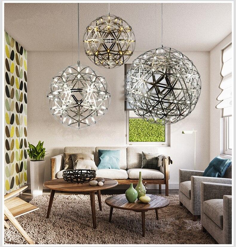 firework stainless steel chandelier led lamp loft 1