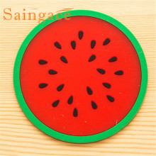 Fruit Coaster Colorful Silicone Cup Drinks Holder Mat Tableware Placemat Hot Free Shipping Nov7