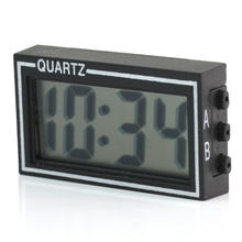 2017 hot New Automobile Car Mini Digital LCD Display Clock Date Time Calendar Electronic Desk Table Clocks Black(China)