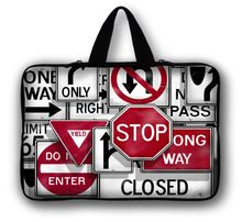 "Road Sign10"" 10.1"" Laptop Handle Bag Netbook Sleeve Case For Asus EEE Pad Acer Aspire One"