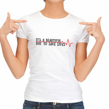 Newest Fashion Designer T Shirt Women Beautiful Day To Save Lives Loose T-shirt Hip Hop Tees Womens Citi Trends Tunic Tops(China)