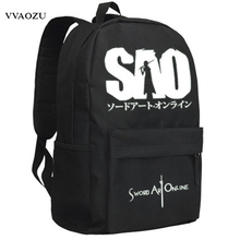 New Sword Art Online Cosplay Backpack Anime SAO Oxford School Bag Unisex Cartoon Schoolbag(China)