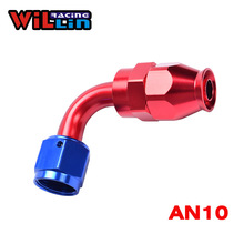WILLIN - AN10 10AN PTFE Swivel Hose End Fitting Aluminum Straight 90 Degree Tube Adapter Teflon(China)