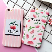 Hot 6 6S Case For iphone 5 5S SE 6 Plus 6S Plus Phone Case Scrub Beautiful Peaches Pattern PC Hard Phone Back Cover Shell Capa
