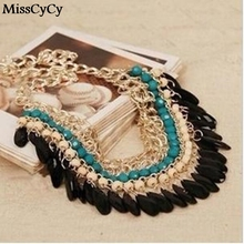 MissCyCy 2016 New Fashion Bohemia Knitting Necklace Choker Collar Necklace Fine Jewerly For Women Necklace