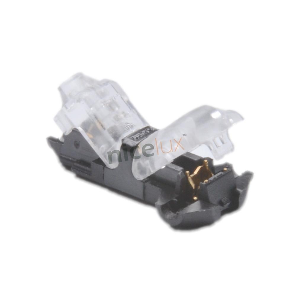 5pcs T Shape Scotch Lock Quick Splice Wire Wiring Connectors Terminals Crimp for 22-18AWG LED Strip Car Audio Cable Crimping