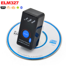 Super Mini V2.1 ELM327 Bluetooth ELM 327 BT V2.1 OBD2 OBD ii OBD 2 Car Code Scanner with Switch for Android Symbian Windows(China)