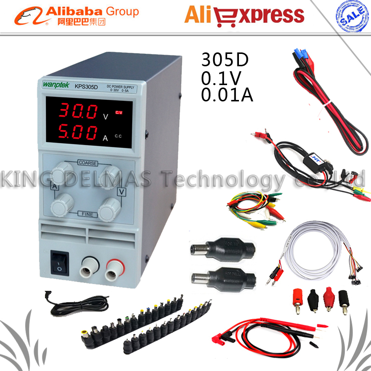 Digital LED Adjustable DC Power Supply 30V5V 110-220V For Phone and Laptop Repair Power Supply+DC JACK SET+Repair cable+Probe<br>