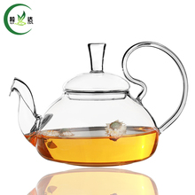 600ml Heat-Resisting Glass Teapot With Stainless Steel Filter Kettle Spout Puer Tea Da Hong Pao High Handle Teapot(China)
