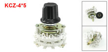 KCZ-4*5 Four 4 Pole 5 Throw Position  4P5T TV Radio Band Channel Selector Ceramic Dual 2 Deck Rotary Switch w Plastic Knob