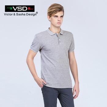Victor & Sasha Design 2017 Ocasional do Verão Impressão Slim Fit Camisas Polos de Algodão Homens Homens de Manga Curta Famosa Marca Italiana Homme das Y610