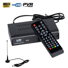 FTA DVB-T2 DVB-T Digital Terrestrial Convertor HD TV Tuner Set Top Box Receiver USB PVR Recorder EPG Playback + VHF UHF Antenna