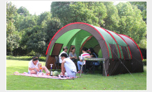 Outdoor Tent Room Two Hall 5-8 Person Large Tunnel Tents Anti-Rain Camping Equipment