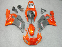 Orange black fairings for Yamaha YZF-R6 98-02 YZF R6 98 99 00 01 02 YZF 600 R6 1998 1999 2000 2001 2002 fairing kits