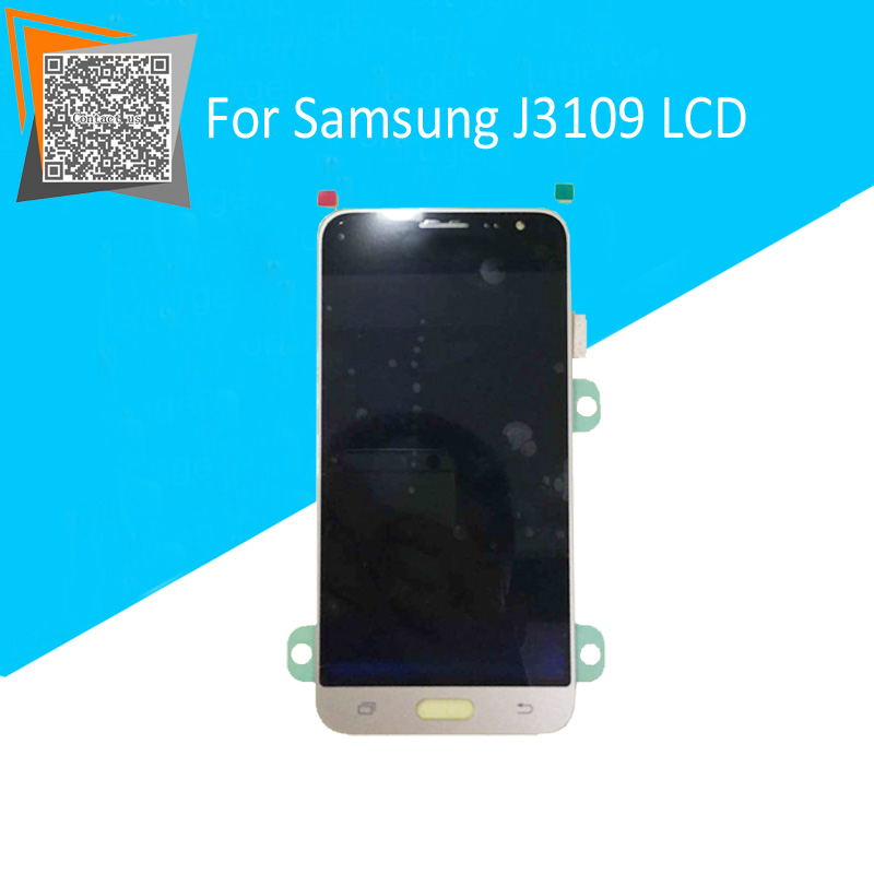Gold/White For Samsung Galaxy J3 J3109 LCD Display with Touch Screen Digitizer Assembly 100% Tested with LOGO<br><br>Aliexpress