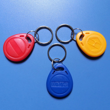 100pcs/Lot waterproof RFID Proximity Rfid Tag Key Rings 125Khz Smart Card Rfid Id Card Blue Yellow Red