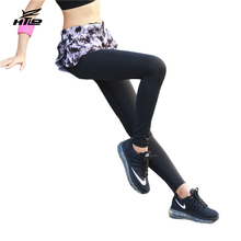HTLD Petal Tights Sports Pants Lady Fitness Elastic Running Leggings Lady Yoga Outdoor Tennis Pants Skirts Sweatpants Trousers(China)
