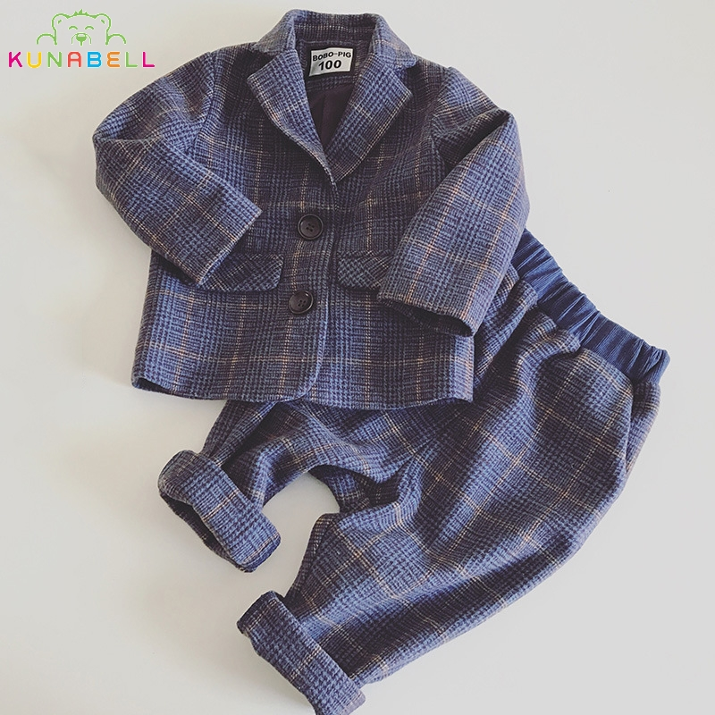 Boys Autumn Spring Brand Weddings Kids Prom Blazer Suits Birthday Clothes Children Classic Costume Formal Dress Jacket Pants F43<br>