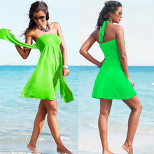 2016 SWIMMART Brand Original Design Top lined with Removable padding Bandage Cover Ups Dress for Beach and Holiday VB007