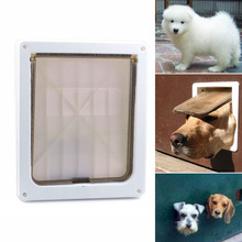 Homdox 8.2 x 10.4 inch Flap Plastic Small Medium Dog Pet Lockable Door Gate Extra Large White #30-21(China)